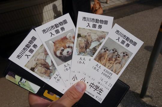 市川市動植物園のチケット