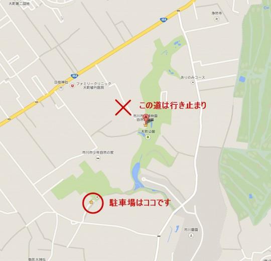 市川市動植物園-駐車場マップ